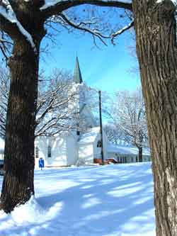 Nora Church in the winter