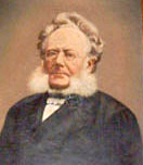 A portrait of Henrik Ibsen